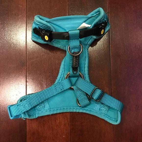 petco Mesh Teal Small Dog Adjustable Harness